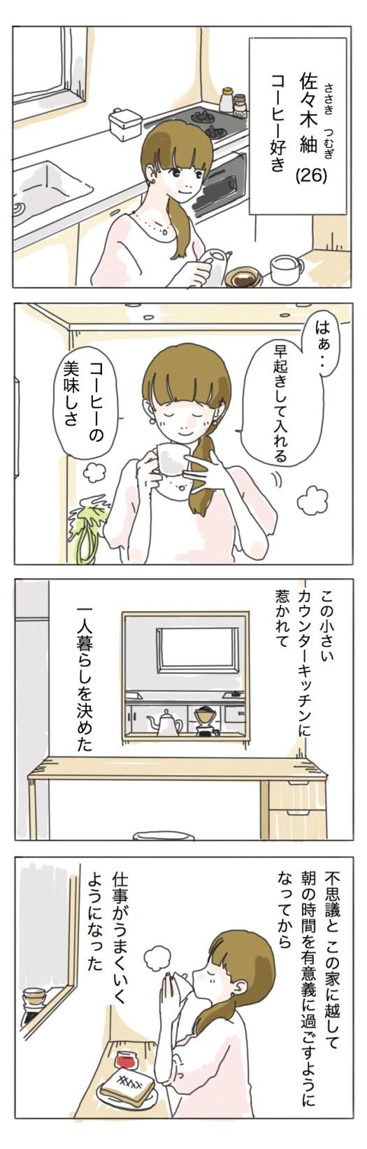【奥田けい連載】マンガ・一人暮らしの彼女たち ‐コーヒー編-
