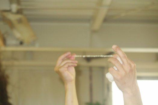 糸紡ぎのレクチャー_アップ