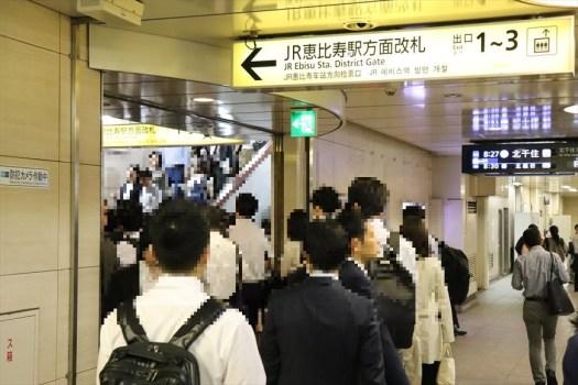 恵比寿駅の降車ホーム