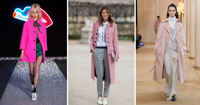 What to wear with a pink coat - 60 photos of the best combinations for any season