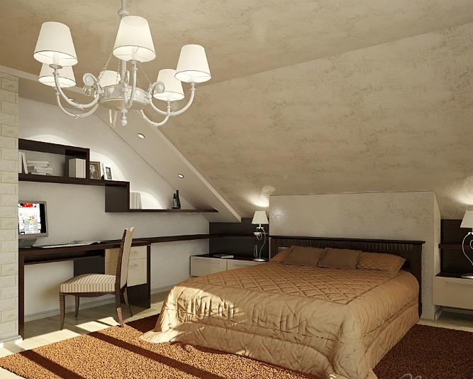 Комната со скошенным потолком фото  Фото база