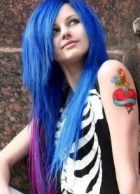 голубые волосы11