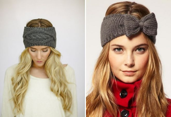 knitted hair bandage