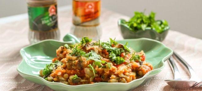 सब्जियों के साथ एक साइड डिश पर रेसिपी मसूर