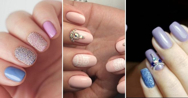 Ideas for manicure with pastel bouillas
