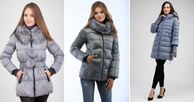 What can I wear with a gray short slim down jacket