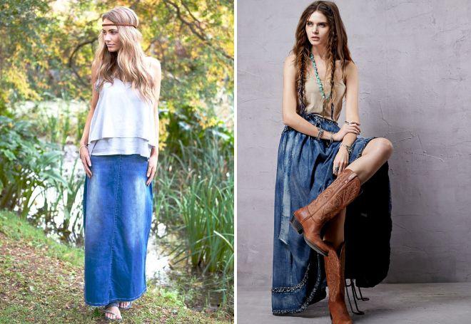 summer denim skirt