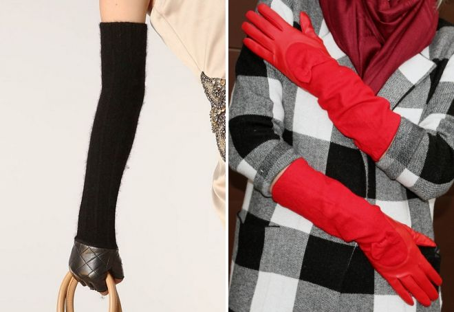 long wool gloves
