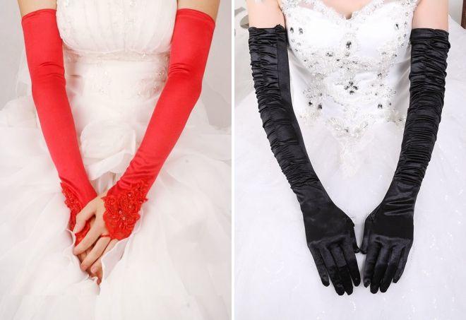 wedding long gloves