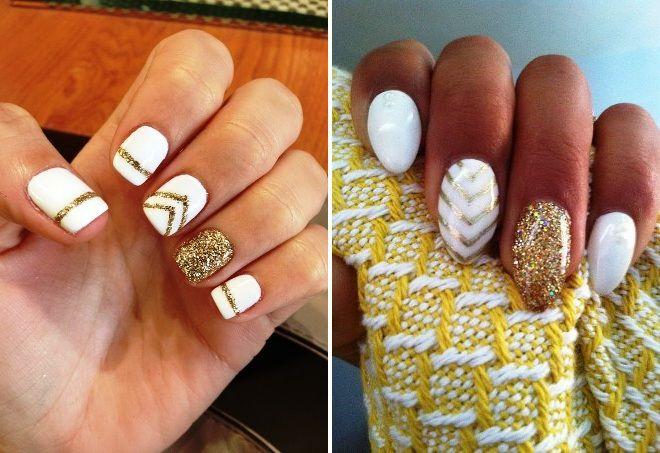 дизайн ногтей с золотом 7