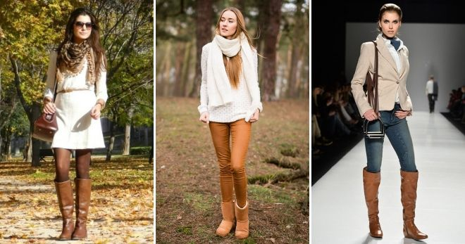 What to wear with brown boots without heels