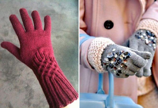 women's knitted gloves