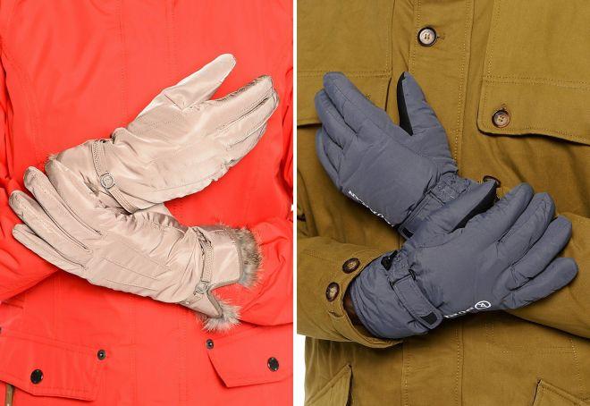 gray women's gloves