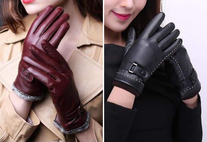 women's leather winter gloves