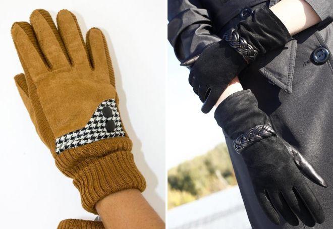 women's suede gloves