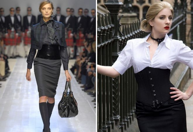 what to wear with belt corset