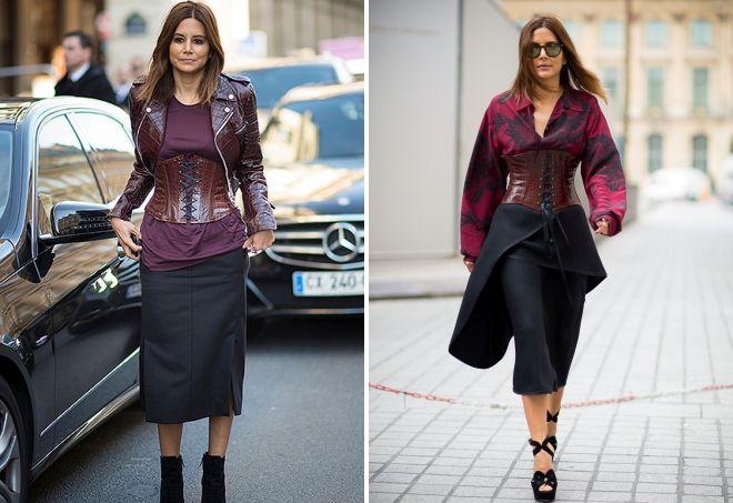 skirt with a corset belt