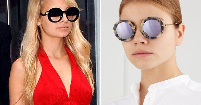 fashionable round glasses
