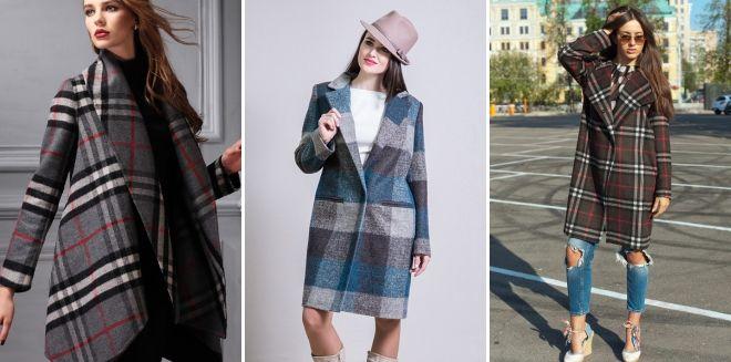Women's checked coat 2019