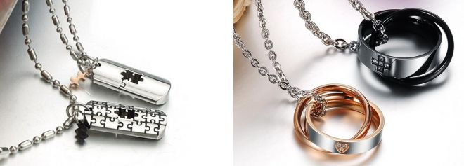 paired pendants d lovers