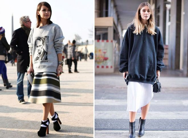 what to wear oversized sweatshirt