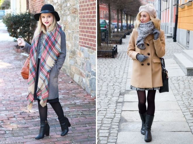 how to wear a tippet with a coat