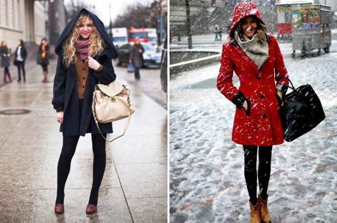 how to wear a tippet with a coat with a hood