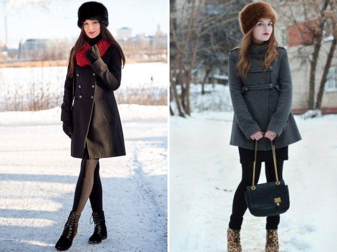 fur hat with coat