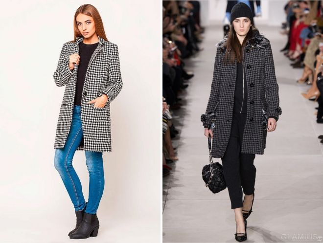 what to wear checkered coat