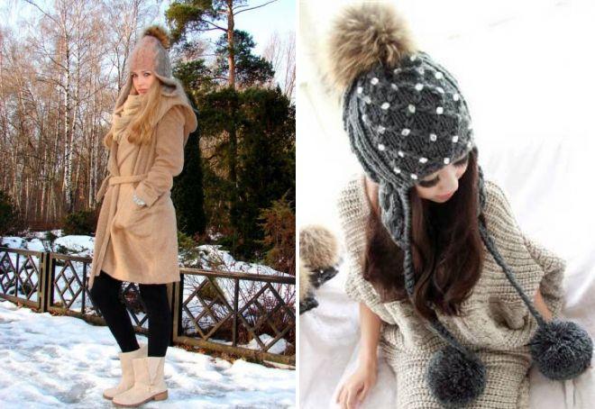 hat with fur pompon