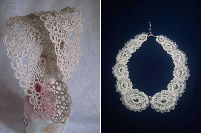 french lace collars