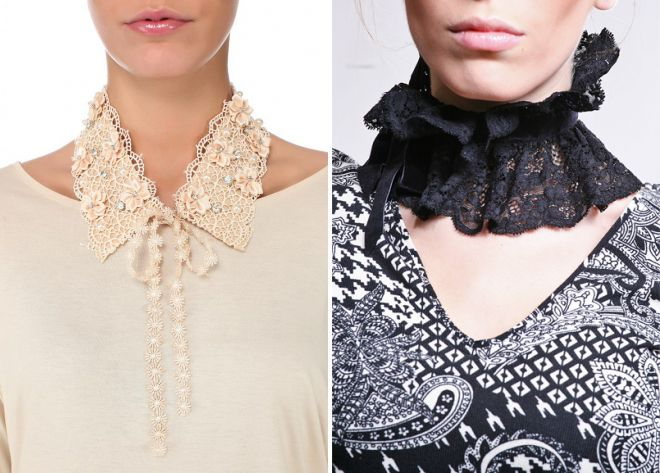 lace detachable collar