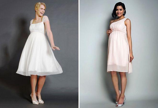 short wedding dresses for pregnant women