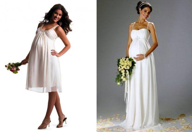 summer wedding dresses for pregnant women