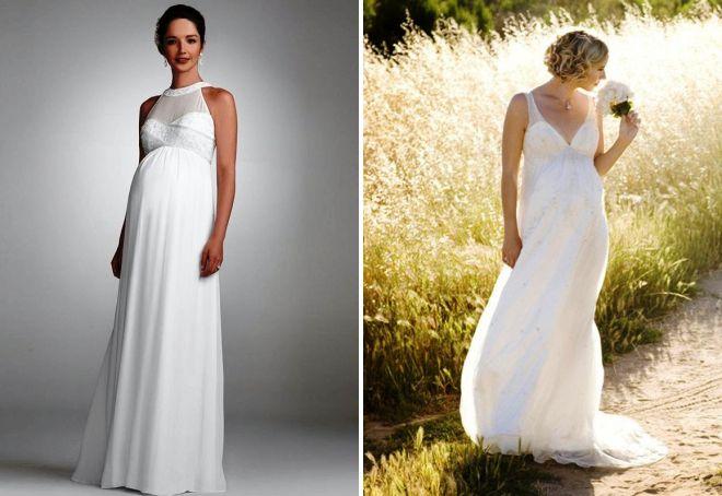 pregnant brides in wedding dresses