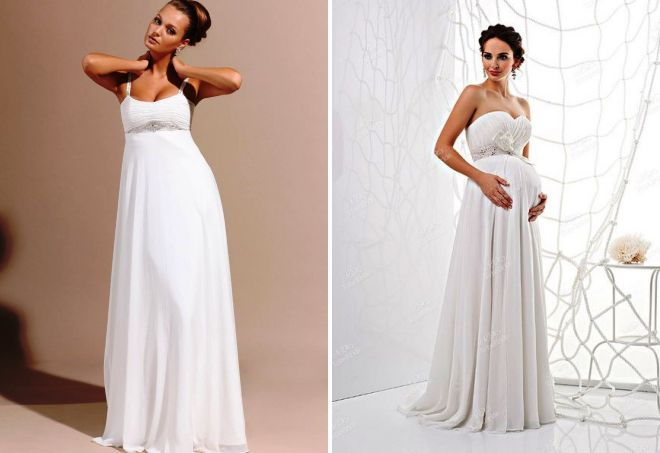 what wedding dress is better to choose pregnant