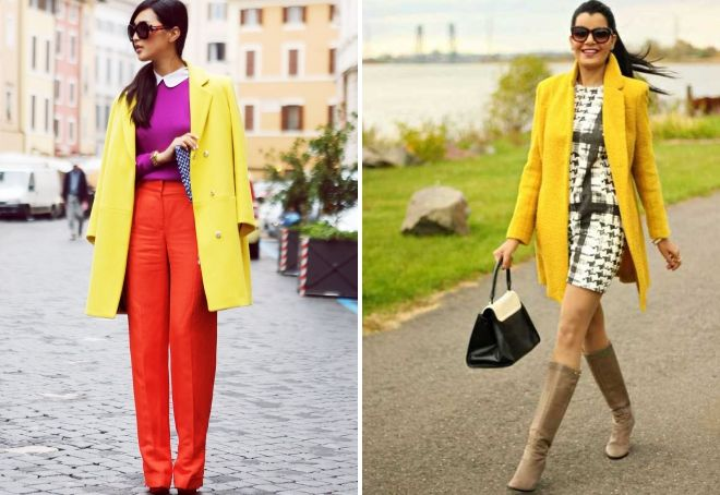 yellow coat 2019 with what to wear