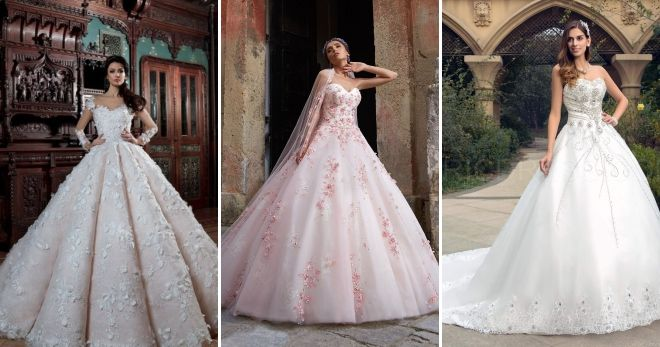 Luxurious wedding dresses 2019 embroidery