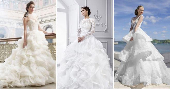 Fluffy wedding dresses 2019 shuttlecocks