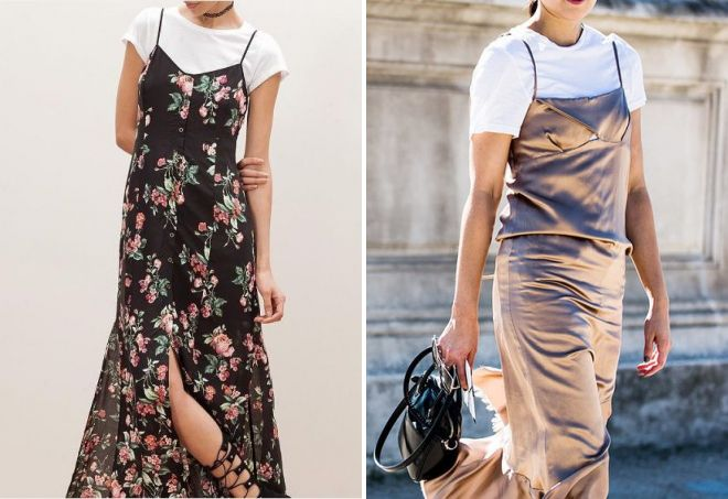 long dress with t-shirt