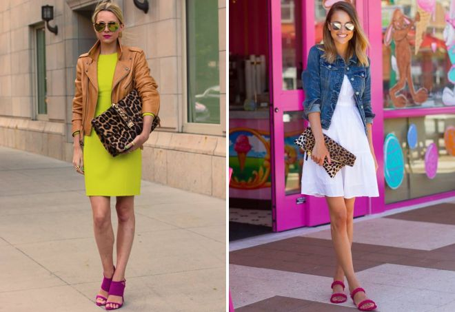 what to wear bright sandals with