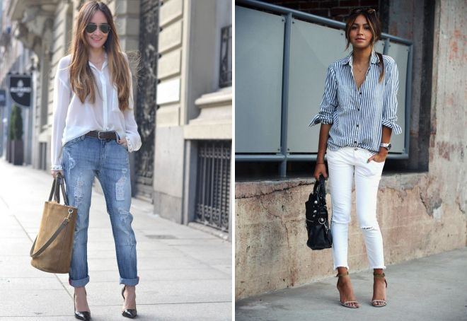 how to tuck a shirt in jeans girl