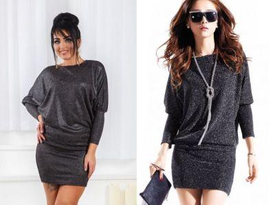 Lurex and dress tunic