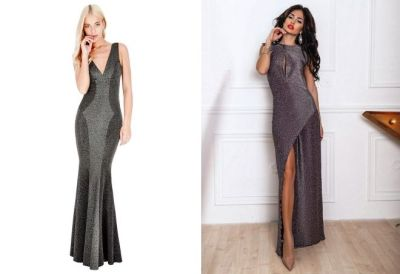 Evening dress with lurex