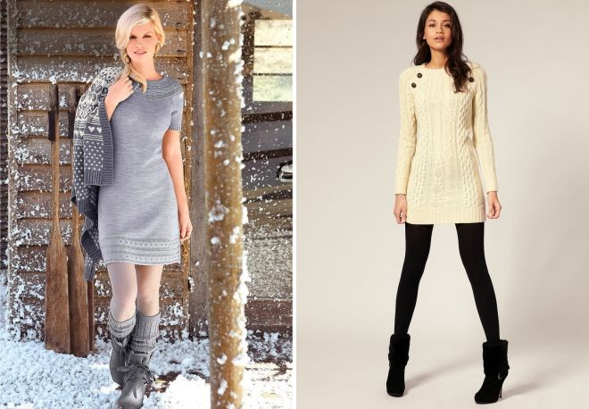 what to wear dress tunic in winter