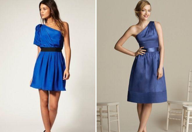 blue wedding dress as a guest