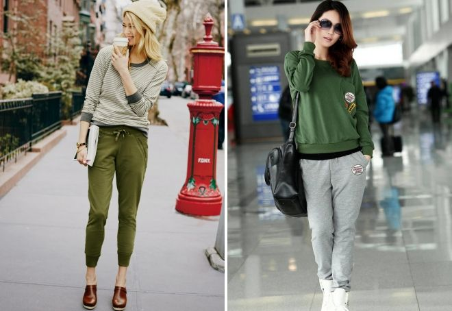 what to wear with female joggers