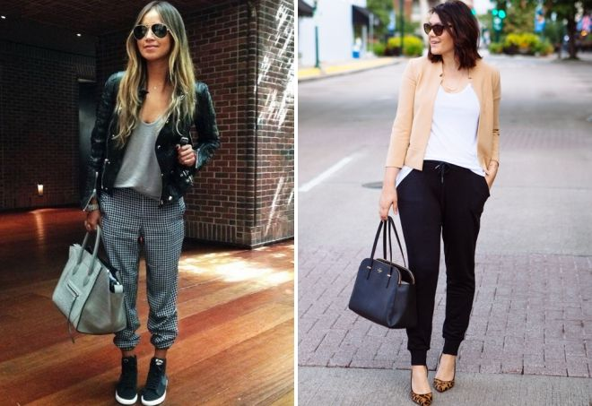 what to wear with joggers in autumn and spring
