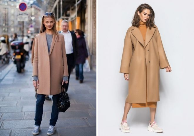 Camel overlays coat