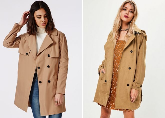 Camel color trench